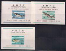 Korea  1966  Sc #496a-98a  Fishes  s/s  MNH  (3-8141)