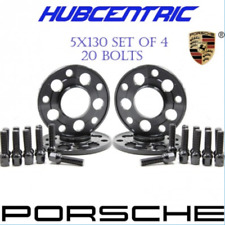 5x130 PORSCHE 2x15MM & 2X 20MM WHEEL SPACERS KIT 14x1.5 BALL SEAT BOLTS 71.50 CB