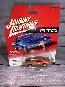 New Rare Johnny Lightning Jolly Olly Orange 1969 Pontiac GTO Super Stock Redline