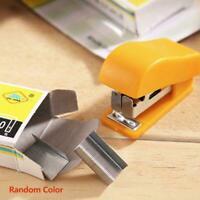 Mini Small Stapler Useful Mini Stapler Staples Set Supplies Binding Office F6D3