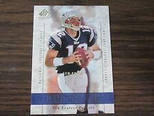 2002 SP Legendary Cuts # 1 Tom Brady Card New England Patriots (B2)