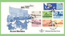 Brunei 1984 Independence set on First Day Cover