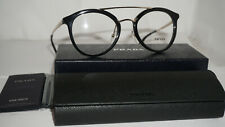Prada RX Eyeglasses New Authentic Black Gold PR 15TV 1AB1O1 50 21 140