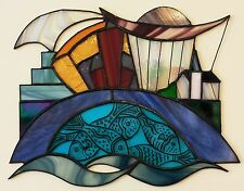 Limited Edition Signed Stained Glass Print - Cardiff Bay
