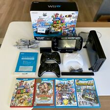 Nintendo Wii-U 32 GB Console With 4 Games and 3 Genuine Wii-U Pro Controllers