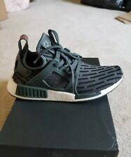 9.5 New Women's Adidas NMD XR1 Primeknit shoes olive green run training casual