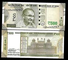 """Rs.500/- Urjit Patel  Star Note """"R"""" Inset  Prefix 1AB  2016 - UNC  LATEST"""