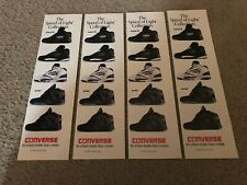 1992 CONVERSE ACCELERATOR MID AERO-GLIDE Basketball Shoes Poster Print Ad Lot x4