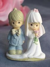 """Small Precious Moments """"The Lord Bless You and Keep You"""" Wedding Cake Topper"""