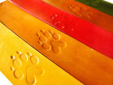 Handmade Leather Bookmark | Wolf Paw w/Multiple Color Choices