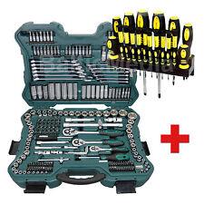 Mannesmann Werkzeugkasten Nusskasten 215 tlg + Schraubendrehersatz 18tlg