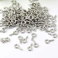 200x Wholesale Mini 8mm Screw Eyepin Hook Eyelets Threaded Eye Pins Bails Peg AU