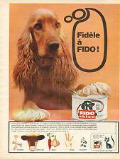 Publicité 1966  FIDO patée pour chien