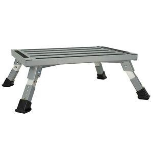 RV Aluminum Platform Step RV Portable Step Adjustable Height