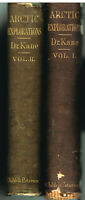 Arctic Explorations In The Years 1853,'54, '55 by Elisha Kane1st Ed Antique Book