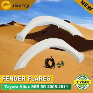 For TOYOTA HILUX SR SR5 2005-2011 Front White Fender Flares W/Rubber 2 Pcs NEW