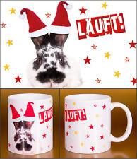 """Witziger Glühweinbecher Weihnachten lustiger Hase Kaninchen """"Läuft!"""""""