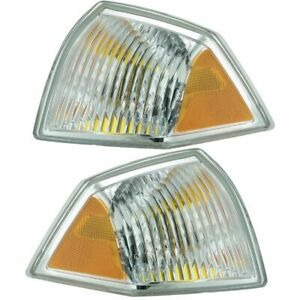 Front Marker Signal Blinker Corner Parking Light Pair Set for 07-10 Jeep Compass