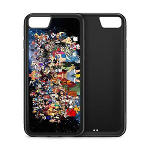 Anime All Characters Black Rubber Phone Case for iPhone Samsung Huawei