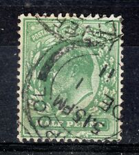 GB = E7 era, 1/2d VERY Deep Bluish Green (p.14) 1911. SG270 Fine Used. (zc)