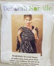 Deborah Norville Knitting Kit Swirling Shawl Soft Charcoal Gray Complete Knit