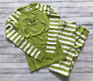 NWT Hanna Andersson Dr. Seuss Grinch Long Johns Pajamas 150 Cm 12 Y