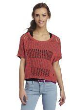 Fox Blazed Sweater Melon Women's Pinkish Orange With Grey Size Medium