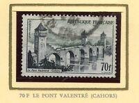 STAMP / TIMBRE FRANCE OBLITERE N° 1119  LE PONT VALENTRE CAHORS COTE 24 €
