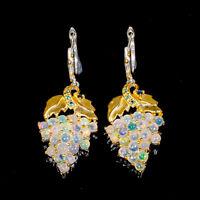 Opal Earrings Silver 925 Sterling Unique Fine Art SET  /E41547