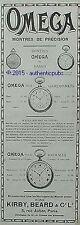 PUBLICITE OMEGA MONTRE PRECISION POUR DAMES GARCONNETS HOMMES DE 1916 FRENCH AD