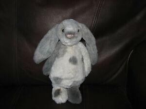 Jellycat Bashful Bunny Dyed Gray/White Spotted Bunny