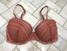 NWT Victoria's Secret Ginger Glaze Chestnut Lace Sexy Tee Demi Scoop Bra 32D