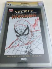 J. Scott Campbell Original Art Sketch Cgc 9.8 Spider-man Secret Invasion 1 Blank