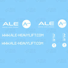 A.L.E. DECALS 1/50 SCALE- WHITE INK