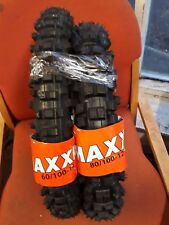 YAMAHA PW80 PAIR OF MAXXIS BRAND TYRES. 80/100-12 60/100-14