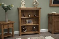 Tilson solid rustic oak living room office furniture small bookcase