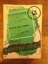"""SPARTITO """"OGNI SERA FINISCE UN AMORE"""" + """"RAGGIO NELLA NEBBIA"""""""