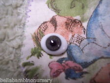 OvAL GLaSs EyEs 6MM Gray ~ REBORN DOLL SUPPLIES