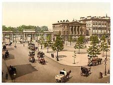 2 Victoriens Vues Coin De Hyde Park Londres,Jardins Kensington Repro Vieilles