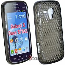 Cover for SAMSUNG Galaxy S Duos S7562 Black Gel Silicone TPU + Film