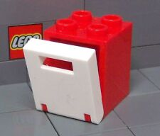 LEGO: Container Box 2 x 2 x 2 (#'s 4345 & 4346) Red/White **Two per Lot**