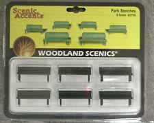 O scale BENCHES Woodland Scenics Train items  # 2758