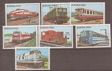 BURKINA FASO SG809/15 1985 TRAINS MNH