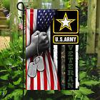 Army Star Patriotic American Soldier Veteran House Flag, Garden Flag, Yard Decor