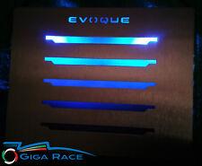TUNING BATTI CALCAGNO LED BLU RANGE ROVER EVOQUE  ACCIAIO LAND TAPPETO MOQUETTE