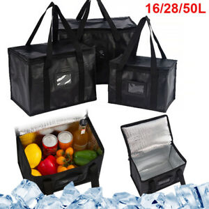 16/50L Large Food Delivery Insulated Bags Takeaway Pizza Thermal Warm Cold Bag