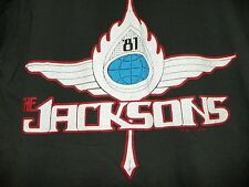 VINTAGE JACKSONS 1981 BLACK LARGE  CONCERT TEE FROM SCREEN STARS