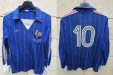 VINTAGE Maillot FRANCE Mundial 82 ADIDAS shirt PLATINI 10 shirt VENTEX maglia XS