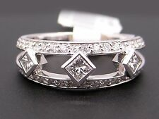 Peter Storm Platinum .75ct Round Princess Cut Diamond Wedding Band Ring WB004PD