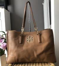 Beautiful Genuine Tory Burch Tan Leather Tote Bag , Over Shoulder Handbag